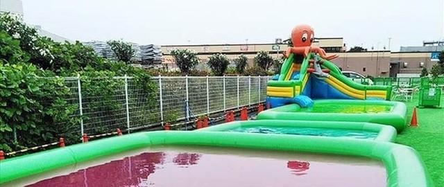 横浜のスーパー銭湯に夏限定ウォーターパーク 特大スライダーも