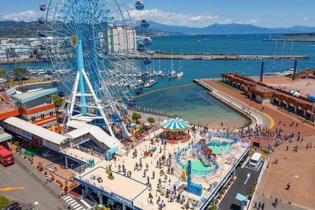 静岡市に「海隣接の遊園地」OPEN 小さな子供向けの乗り物多数!
