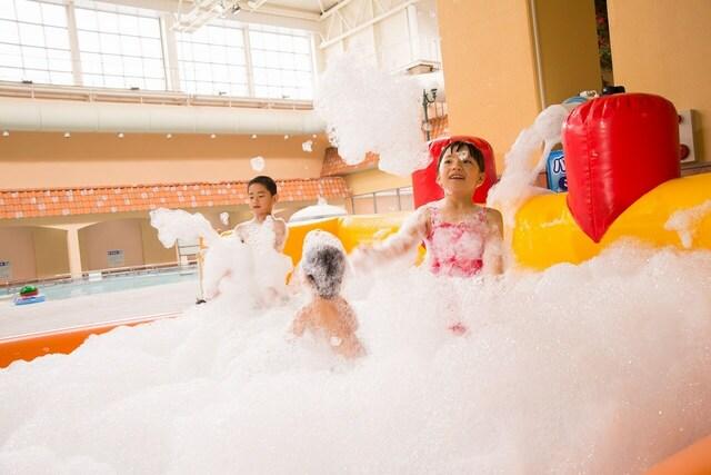 奈良健康ランドで2021年夏プールOPEN 泡プール&水鉄砲バトルも