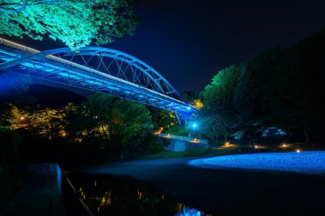 割岩橋(ライトアップ)
