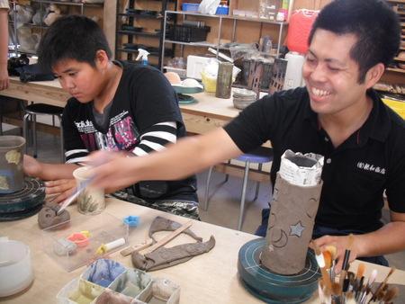 クマの陶芸教室